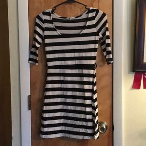 Black and white striped CR dress